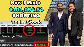 $101,054.54 PROFIT Betting Against TESLA Stock In ONE HOUR! | Alex Temiz Trade Recap