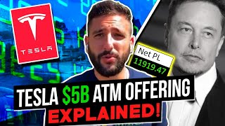 +$11.9K TSLA First Red Day Setup Recap | What Does The $5B ATM Mean For TSLA? Alex Temiz Recap