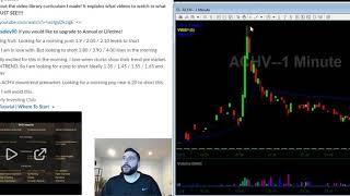 12/09/19 FREE Stock Trading Watch List | SAVA PTI ACHV OBSV AUPH | Stocks in Play