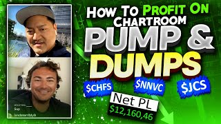 +$12.1K Recap | How To Profit On PUMP & DUMP Chatroom Stocks $CHFS $NNVC $JCS w/ Modern_Rock*
