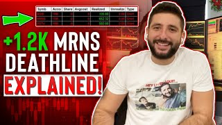 +$1.2K MRNS Deathline Trade Reacp | NVUS Hot chick EXPLAINED | $1M 2020 Profit Update