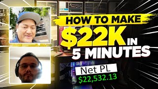 $22K In 5 Minutes of Day Trading EXPLAINED w/ Sergio Classy Trader*