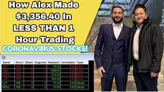 $3,356.40 Trading CORONAVIRUS Stocks | How To Trade SECTOR PLAYS