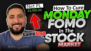 +$3.4K | Cure For MONDAY MORNING FOMO | Profit During SLOW MARKET CYCLES | $GME Trade Recap*
