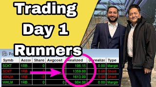+$4K Today | How To Trade DAY 1 RUNNERS Like $SCKT & $WHLM w/ Alex Temiz