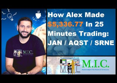 +$5,336.77 In 25 Minutes Of Trading: JAN AQST SRNE Stocks In Play