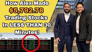 $5,792.78 PROFIT In LESS THAN 30 Minutes of Trading! $VTVT $TSLA $PYX Alex Temiz Trade Recap