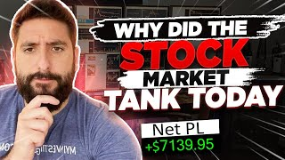 +$7.1K | Why Did The Stock Market TANK Today? How You Can Profit From It w/ Alex Temiz*