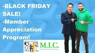 BLACK FRIDAY SALE   Member Appreciation Program