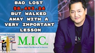 Bao LOST $8,493.24 BUT Walked Away With A VERY Important Lesson