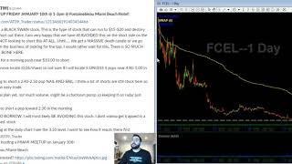 FREE Stock Market Watch List | SAVA SES YUMA FCEL CLUB CEI LIFE PSTV | 01/06/2019