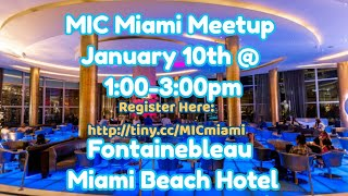 MIAMI MEETUP Hosted By Alex Temiz | January 10th | 1:00-3:00pm | Open to MEMBERS + NON MEMBERS!