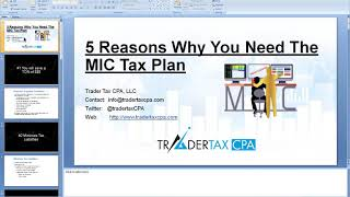 Need Help With Trading Taxes? MIC Tax Planning Launch Webinar !!