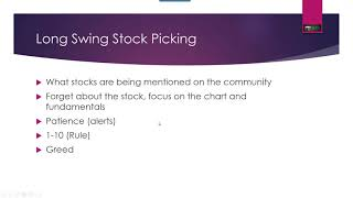 Rules & Process For Picking Stocks For Swing Trading*